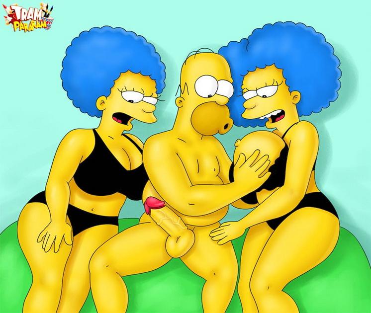 trampararam Simpsons porn ? Threesome sex