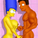 Busty toon mommas from Simpsons in their birthday suits  - Simpsons porn